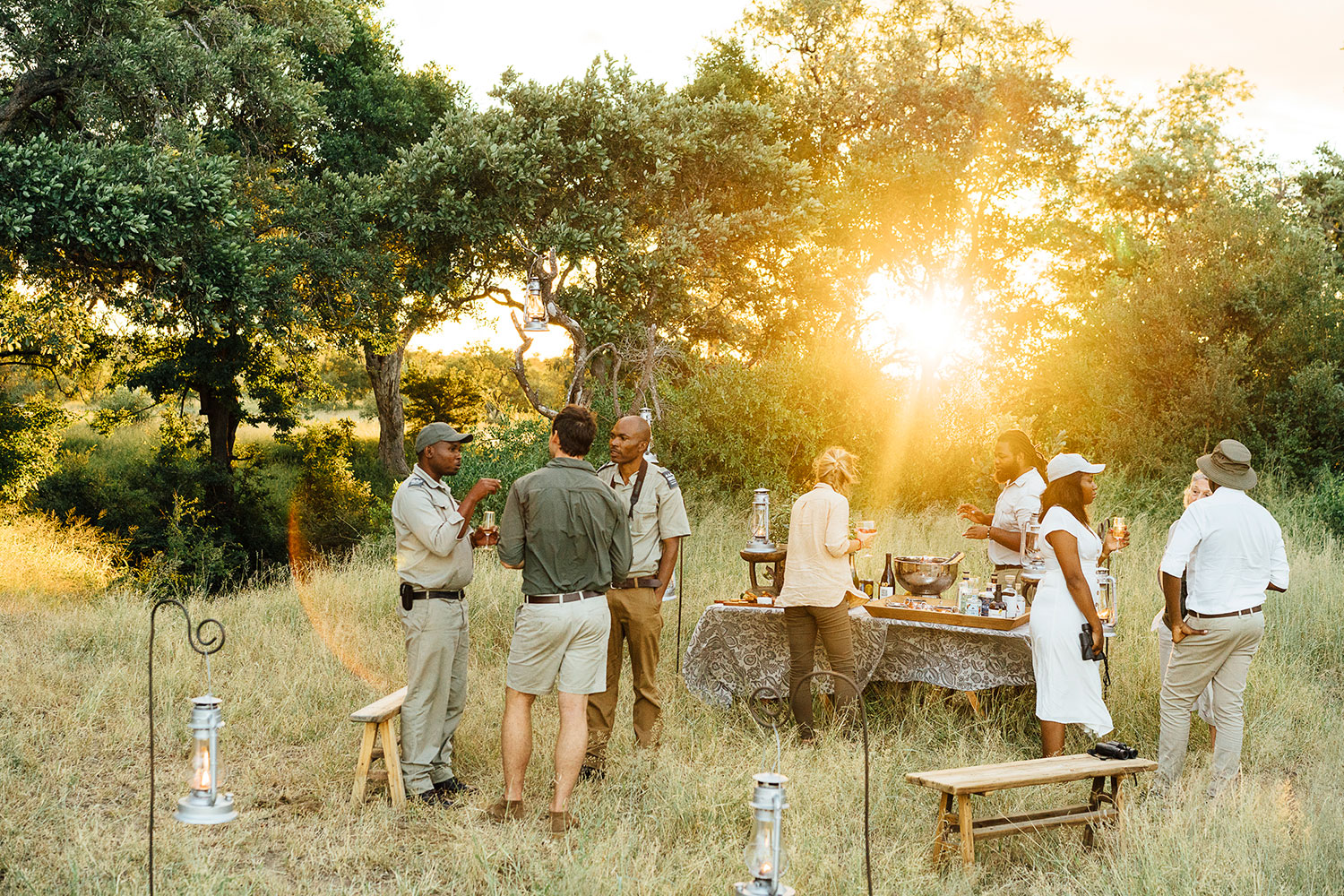 Tanda Tula Safari sundowner drinks